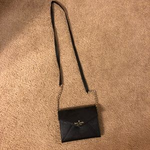Kate Spade Black and Gold Chain Crossbody Bag